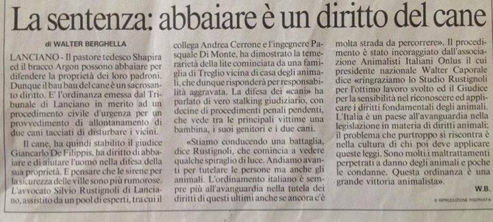 ABBAIARE E' UN DIRITTO DEL CANE