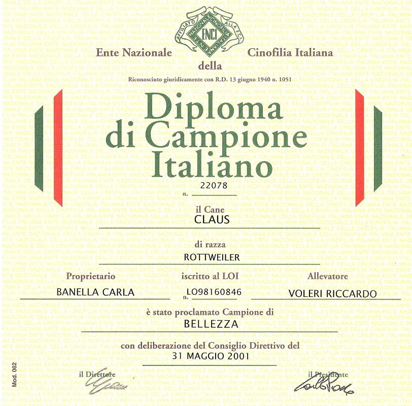diploma claus